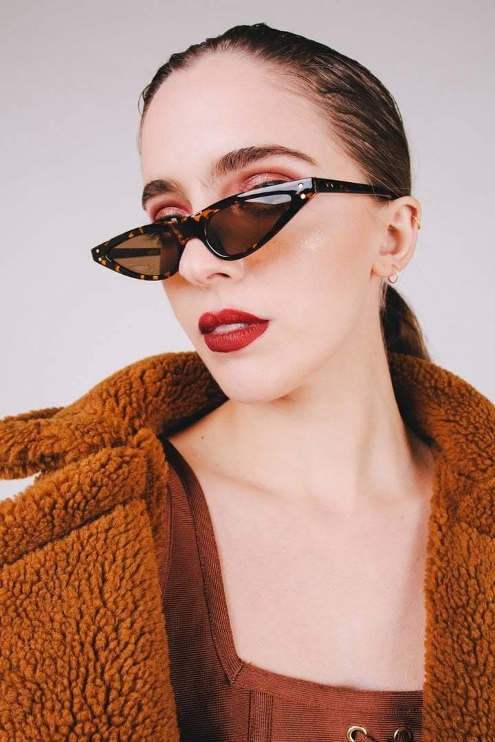 Leopard Print  Feminine Cat-Eye Sunglasses