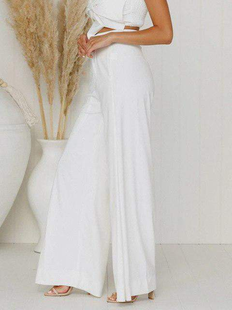 Wide Flare High Waist Casual Pants