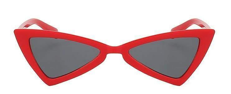 Red Butterfly Retro Vintage Sunglasses