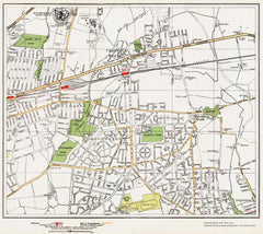 Becontree, Chadwell Heath area (London 1932 Sheet 51-52)