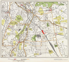 Blackheath, Lewisham, Catford area (London 1932 Sheet 95-96)