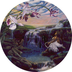 A Flowers Song - 20 inch diameter print - Michael Anthony Brown
