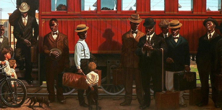Rube and the Giants - 48x24 limited edition print - Kadir Nelson