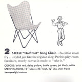 Half Pint Butterfly Sling Chair (Yellow)