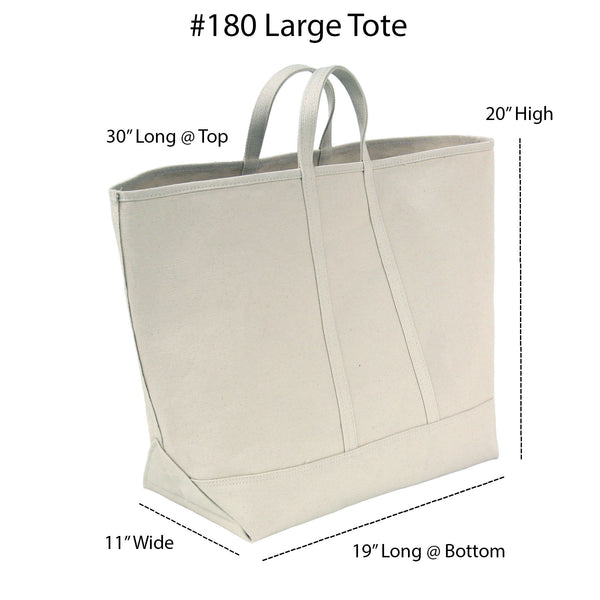 Large Natural Canvas Tote - Old-Timey Stencil