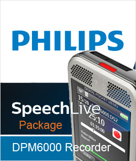 SpeechLive Special Promotion with Philips DPM6000 Recorder