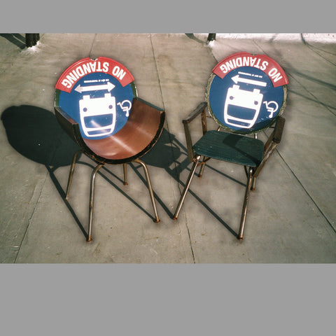 """No-Standing Bus Stop"" Chair set"