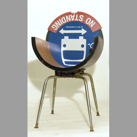 """No-Standing Bus Stop Wood-U"" Chair"