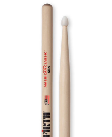 Vic Firth 5BN American Classic® Nylon Tip Drum Sticks - A Pair