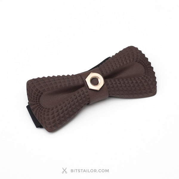 Brown Crocodile Dandy Bolt bowtie - Ready to ship