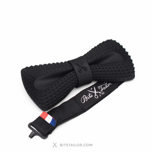 Black Crocodile Dandy bowtie - Ready to ship