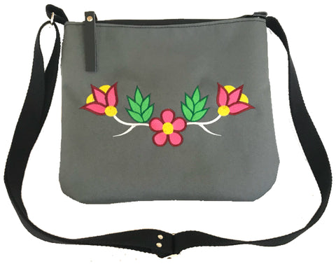 Niibin Mini Purse in Charcoal Grey - Pink