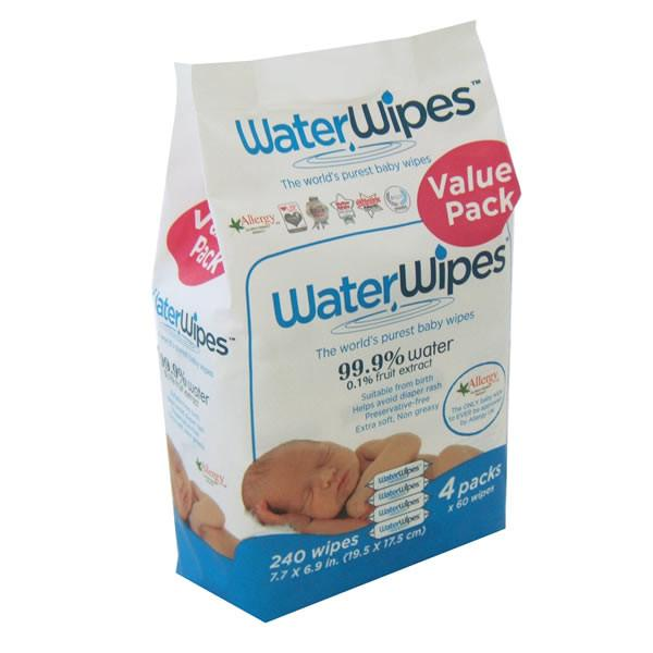 WaterWipes - 4 Pack 240 wipes