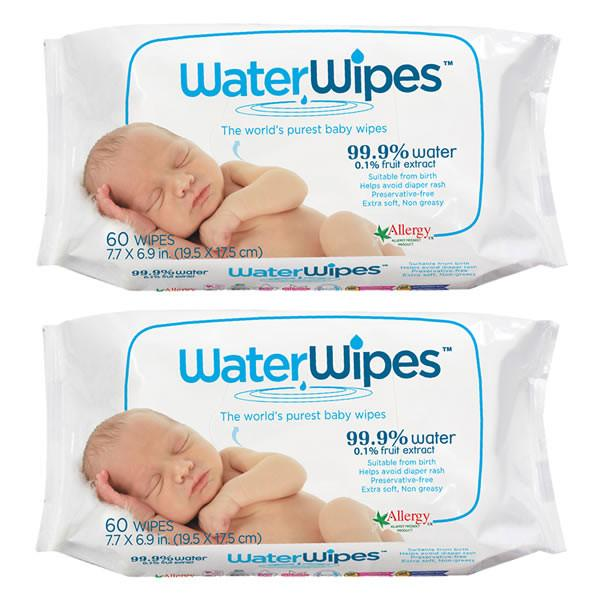 WaterWipes - 2 Pack 120 wipes