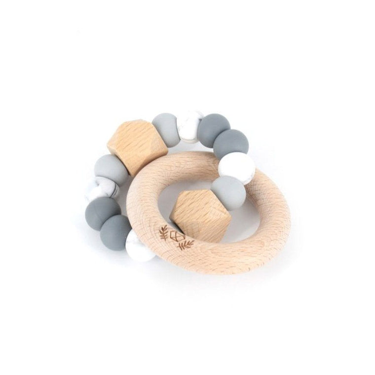 Hexx Teething Rattle : Grey Ombre