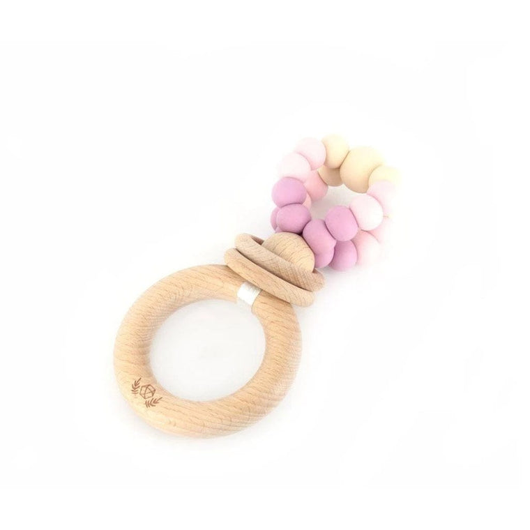 Ring Pop Teething Rattle™ : Dusty Mauve