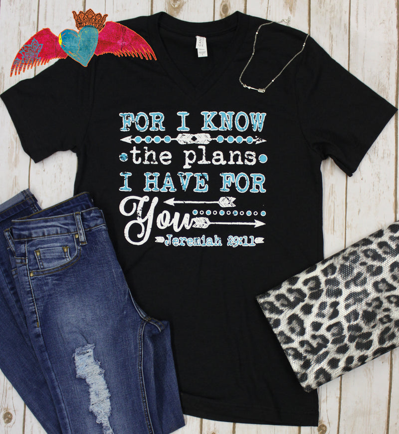 For I Know The Plans V-Neck Tee