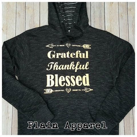 Grateful Thankful Blessed Hoodie