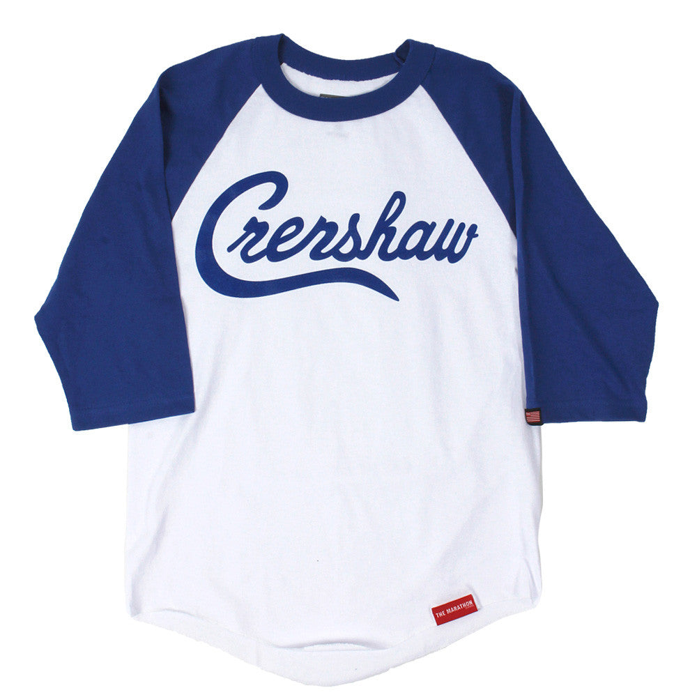 Crenshaw Raglan - White/Royal - Image 1