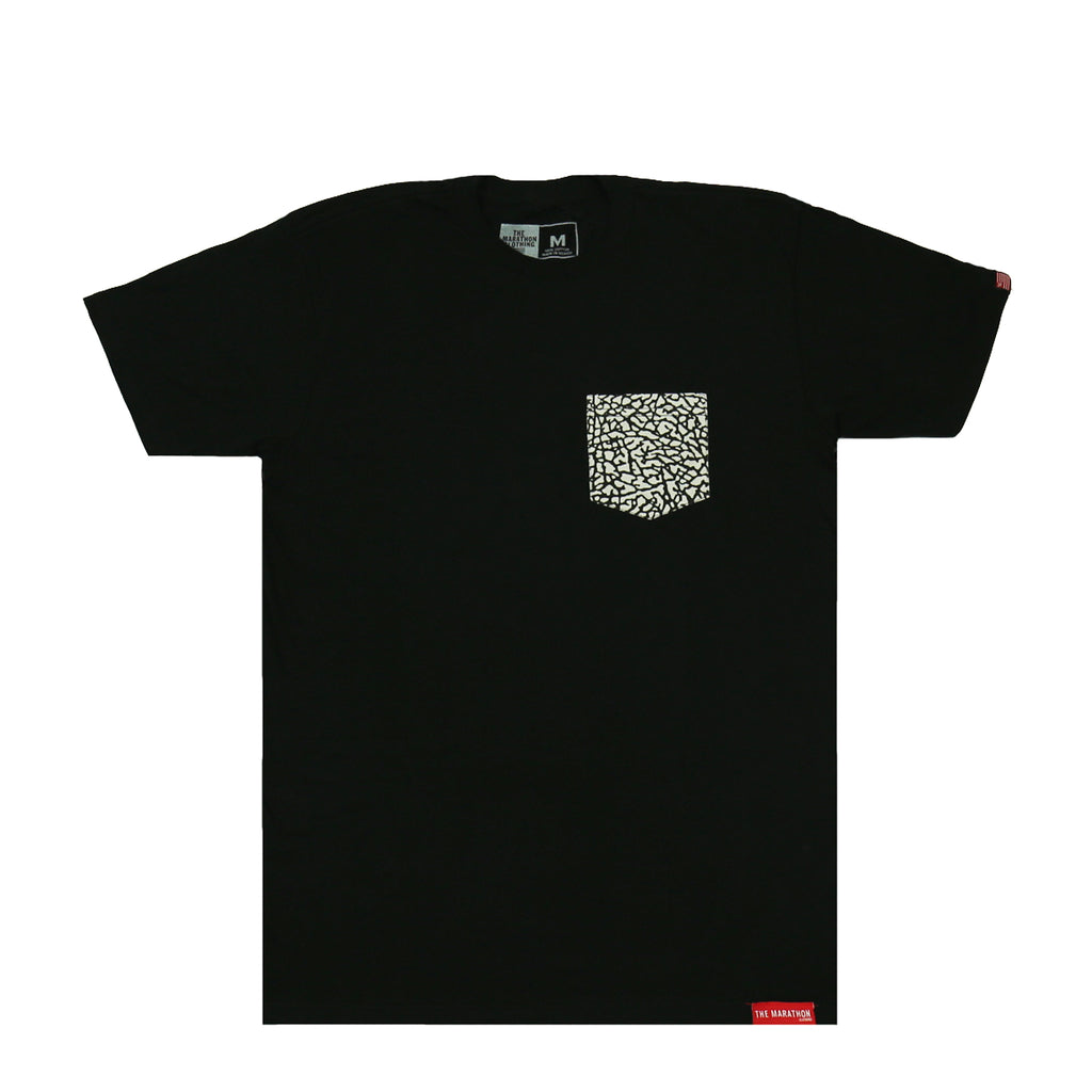 Cement Pocket Tee - Black