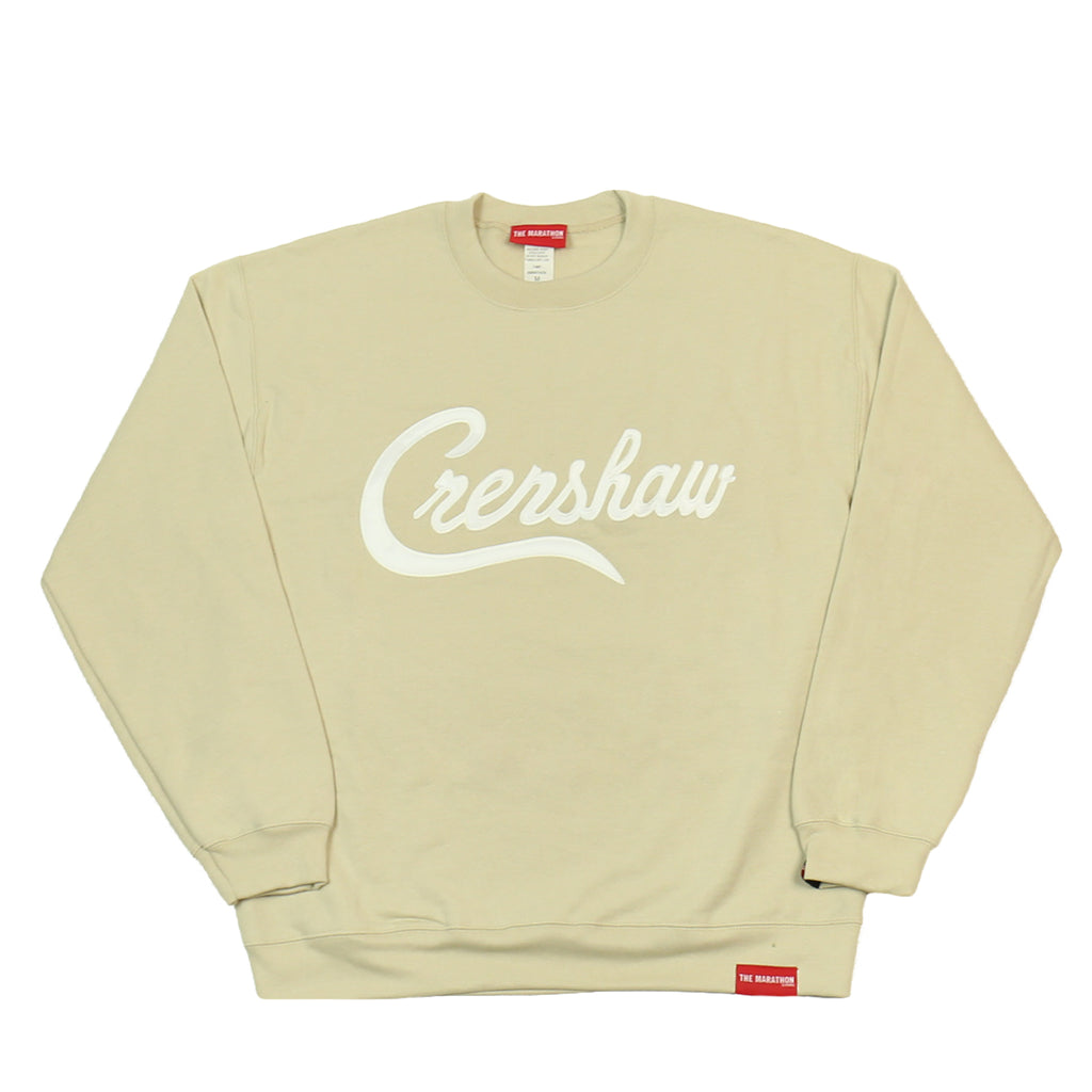 Crenshaw Sweatshirt - Tan/White