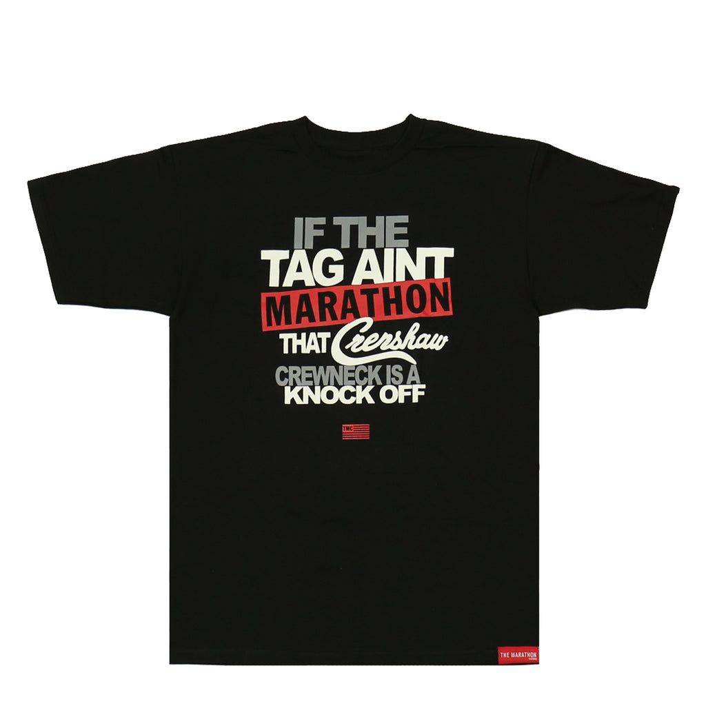 Marathon Tag T-Shirt - Black