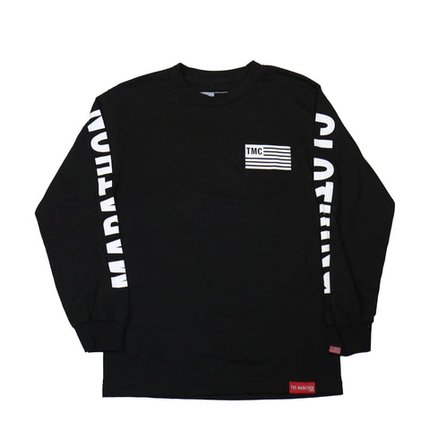 TMC Flag Long Sleeve - Black/White