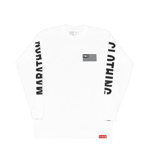 TMC Flag Long Sleeve T-Shirt - White/Black