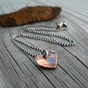 Rustic Hammered Heart Charm Add On