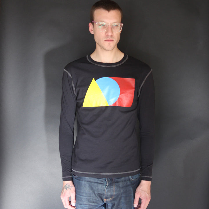 Long Sleeve Tee Shirt Black - Is this Menswear?  - 1