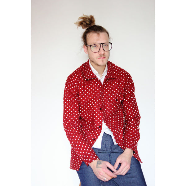 American Flannel Overshirt | Red Polka Dot - Is this Menswear?  - 1