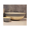 Spun Bamboo Two-Tone Bowls - Dark Grey - Extra Large