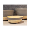 Spun Bamboo Two-Tone Bowls - Dark Grey - Medium