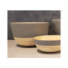 Spun Bamboo Two-Tone Bowls - Dark Grey - Large