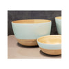 Spun Bamboo Two-Tone Bowls - Pastel Green - Large