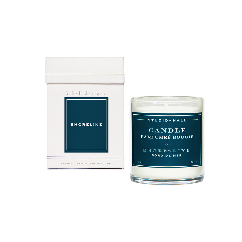 K. Hall Designs Boxed Jar Candle - Shoreline
