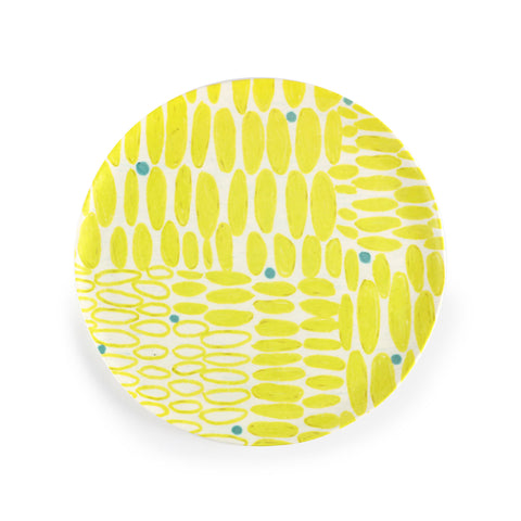 Anne Bentley Plate - Yellow Ovals