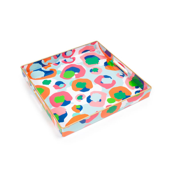 Spot Cheetah Square Tray