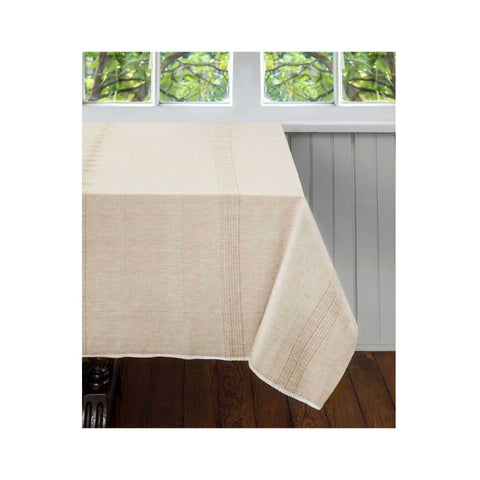 Hand-woven Cotton Tablecloth: Whipped Cream
