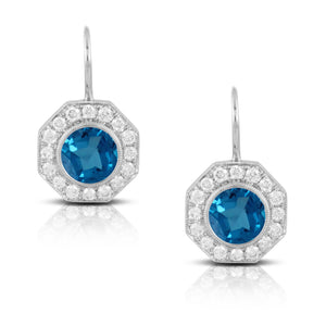 London Blue Topaz & Diamond Earrings