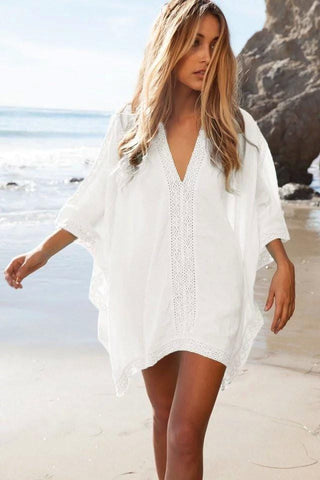 White Beach Lace Kaftan