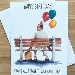 Forest Gump  - Greeting Card
