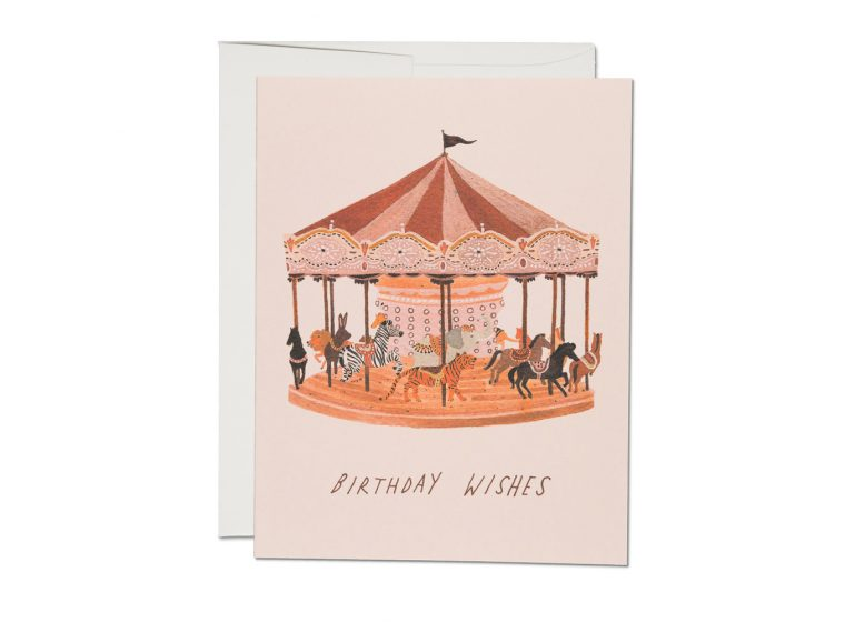 Carousel Birthday Wishes - Greeting Card