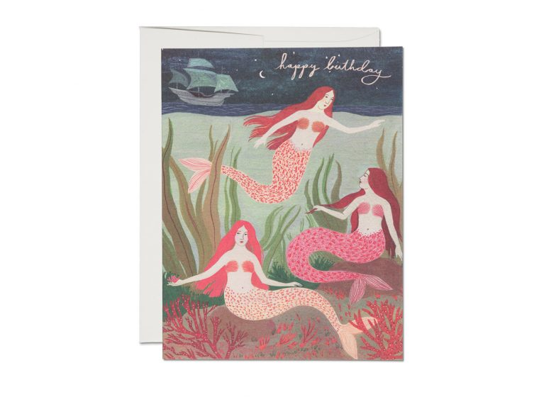 Mermaids Birthday - Greeting Card