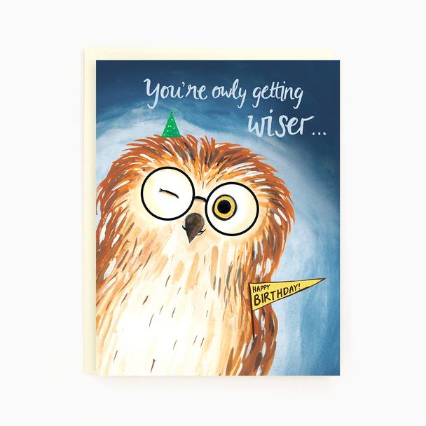 Birthday Owl - Greeting Card