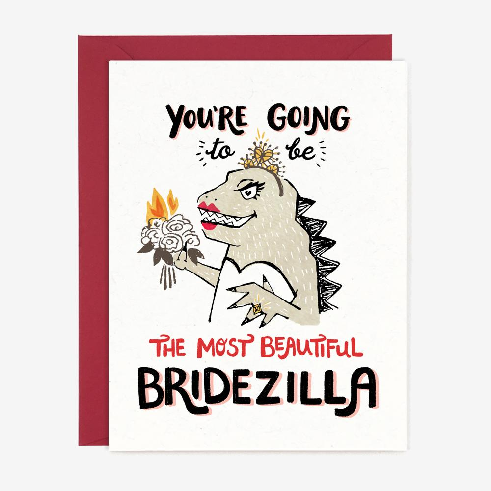 Bridezilla - Greeting Card