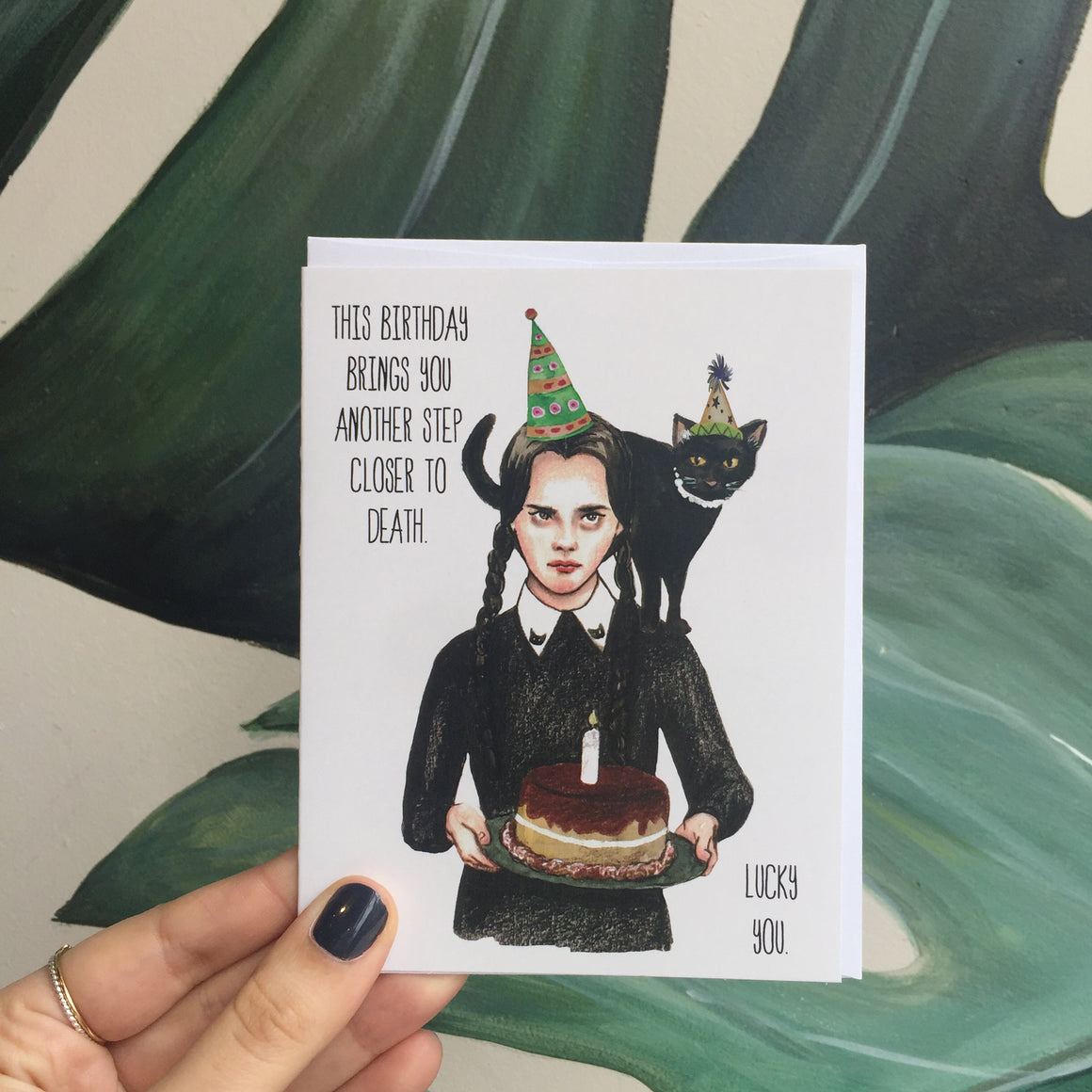 Wednesday Addams Birthday  - Greeting Card