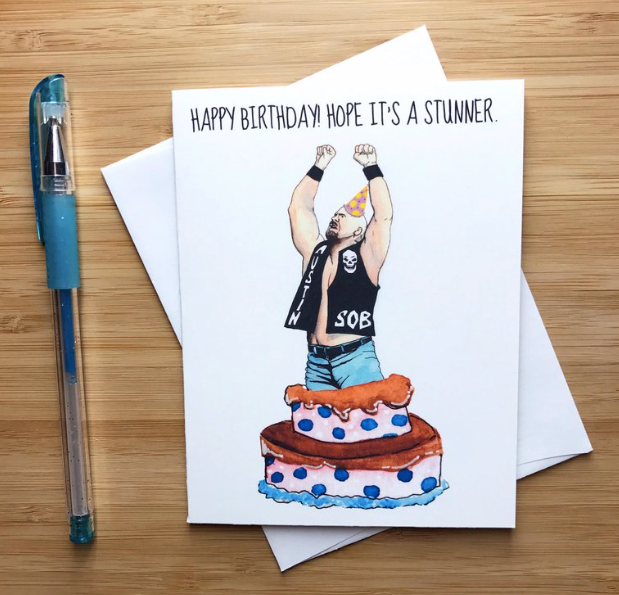 Stone Cold Steve Austin Birthday - Greeting Card