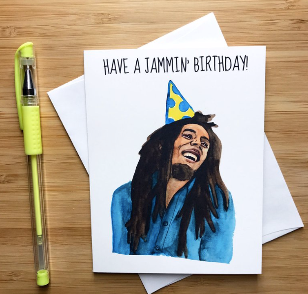 Bob Marley Birthday  - Greeting Card