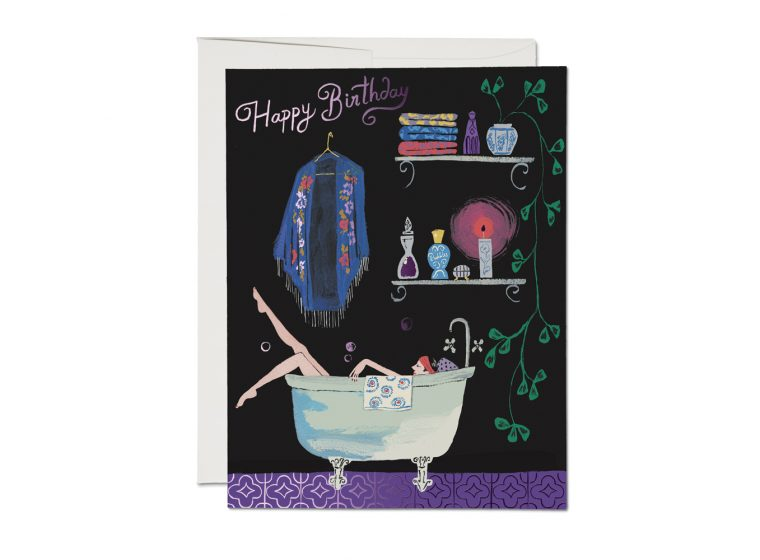 Bathtub Bubbles Birthday - Greeting Card